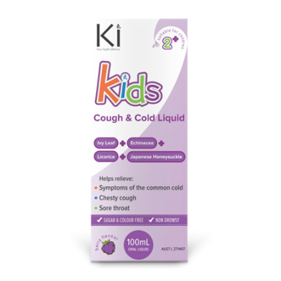 KI KIDS COUGH & COLD RELIEF 100ml (BX6)
