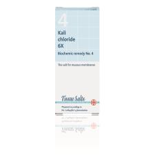 SCHUESSLER SALTS - KALIUM CHLORIDE 6X (No.4) 200Tabs Potassium (K) - Kalium