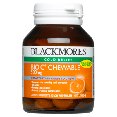 BIO C CHEWABLE 500mg 50Tabs VITAMIN C