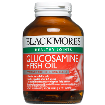 GLUCOSAMINE + FISH OIL 90Caps