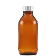 100ml AMBER BOTTLES WITH CAPS 10pk