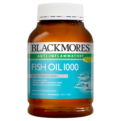 FISH OIL 1000mg 400Caps Fish Oils