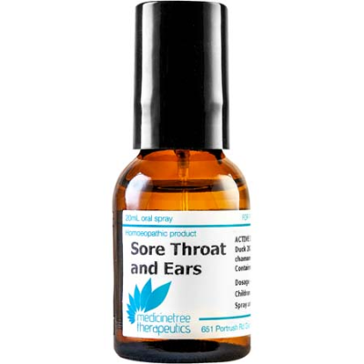 SORE THROAT & EARS ORAL SPRAY 20ml