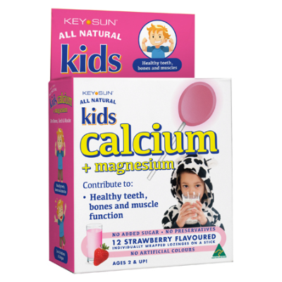 KIDS CALCIUM + MAGNESIUM LOZENGE ON A STICK 12pk