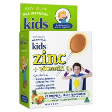 KIDS ZINC + VITAMIN C LOZENGE ON A STICK 12pk
