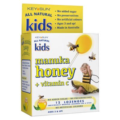 KIDS MANUKA HONEY & VITAMIN C LOZENGE ON A STICK 12pk