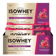 ISOWHEY WEIGHT MANAGEMENT BAR BERRY 62g 12pk