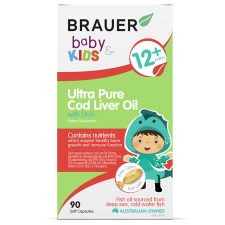 BABY & KIDS ULTRA PURE COD LIVER OIL 90Scaps