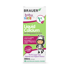 BABY & KIDS LIQUID CALCIUM WITH MAGNESIUM & ZINC 200ml