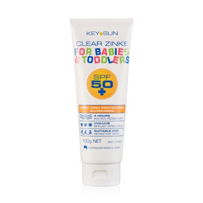 CLEAR ZINKE FOR BABIES & TODDLERS SPF50+ 100g