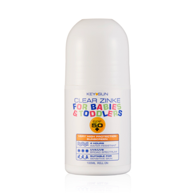CLEAR ZINKE FOR BABIES & TODDLERS SPF50+ ROLL ON 100ml