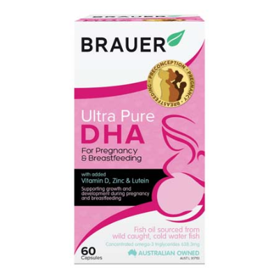 ULTRA PURE DHA FOR PREGNANCY & BREASTFEEDING 60Scaps