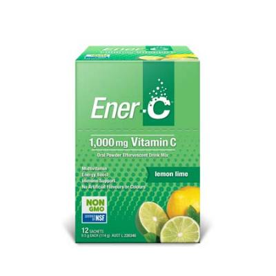 ENER-C LEMON EFFERVESCENT MULTIVITAMIN DRINK 12SCH
