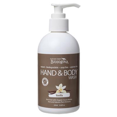 ORGANIC VANILLA HAND & BODY WASH 250ml