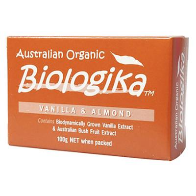 ORGANIC VANILLA & ALMOND SOAP 100g