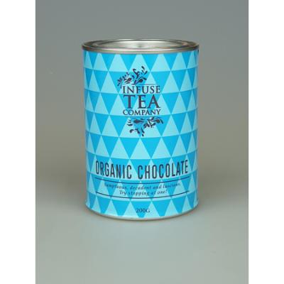 ORGANIC DRINKING CHOCOLATE TIN 200g (BX8)