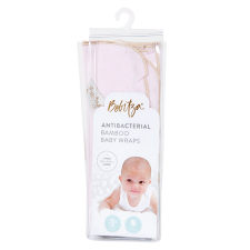 ANTIBACTERIAL BAMBOO BABY WRAP LIGHT PINK