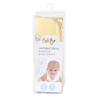 ANTIBACTERIAL BAMBOO BABY WRAP YELLOW