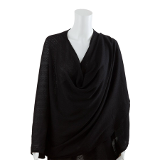 NURSING COVER TEXTURED KNIT BLACK