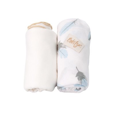 ANTIBACTERIAL BAMBOO BABY WRAP CREAM/ FEATHER 2pk