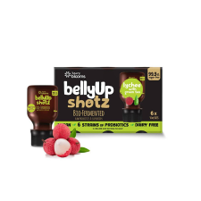 BELLYUP SHOTZ BIO FERMENTED LYCHEE WITH GREEN TEA 6 x 50ml