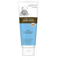 100% NATURAL 3-IN-1 BABY WASH, SHAMPOO & BUBBLE BATH 250ml