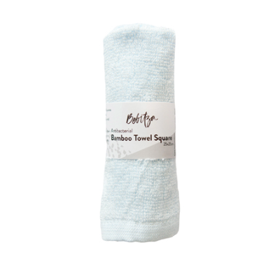 BAMBOO TOWEL SQUARE BLUE