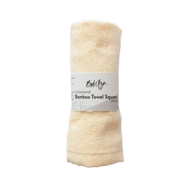 BAMBOO TOWEL SQUARE YELLOW