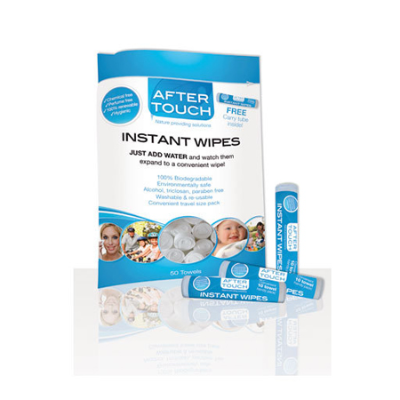INSTANT WIPES 50pk (INCLUDES FREE CARRY TUBE)