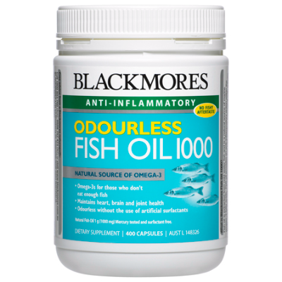 ODOURLESS FISH OIL 1000 400Caps Fish Oils