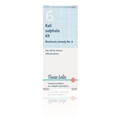 SCHUESSLER SALTS - KALIUM SULPHATE 6X (No.6) 200Tabs Potassium (K) - Kalium