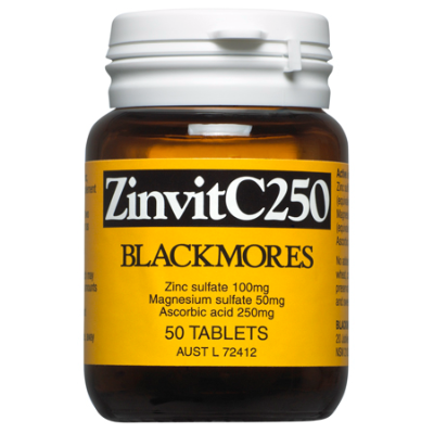 ZINVIT C 250mg 50Caps Zinc (Zn)