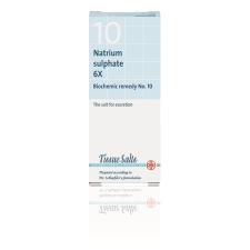 SCHUESSLER SALTS - SODIUM SULPHATE 6X (No.10) 200Tabs Sodium (Na) - Natrium