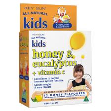 KIDS HONEY & EUCALYPTUS LOZENGE ON A STICK 12pk