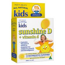 KIDS SUNSHINE D + VITAMIN D LOZENGE ON A STICK 12pk