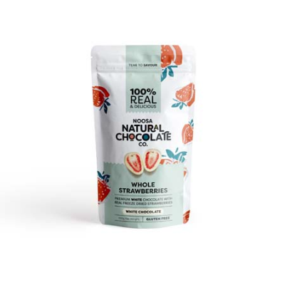 WHITE CHOC COATED STRAWBERRY 100g (BX6)