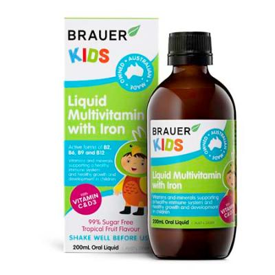 KIDS LIQUID MULTIVITAMIN WITH IRON 200ml