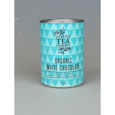 ORGANIC WHITE DRINKING CHOCOLATE TIN 200g (BX8)