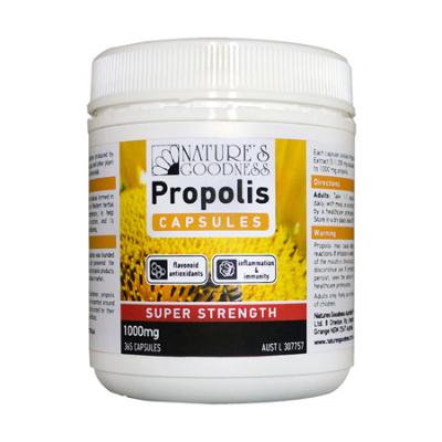PROPOLIS SUPER STRENGTH 1000mg 365Caps Propolis