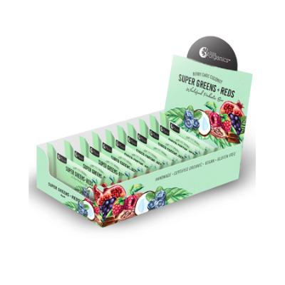 SUPER GREEN + REDS MULTI VITAMIN ENERGY BAR 45g 12pk