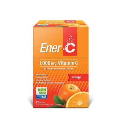 ENER-C ORANGE EFFERVESCENT MULTIVITAMIN DRINK 12Sch 10/21
