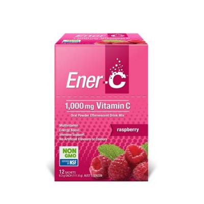 ENER-C RASPBERRY EFFERVESCENT MULTIVITAMIN DRINK 12SCH 10/21
