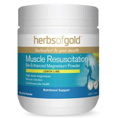 MUSCLE RESUSCITATION LEMON LIME 150g magnesium (mg)
