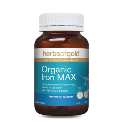 ORGANIC IRON MAX 30Vcaps Iron (Fe)