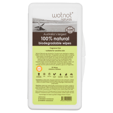 100% NATURAL TRAVEL WIPES HARD CASE 20Pk (BX16)