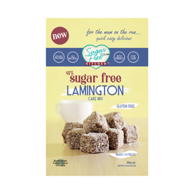 SUGAR FREE LAMINGTON CAKE MIX 250g (BX6)