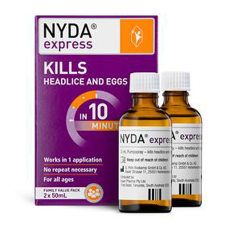NYDA EXPRESS HEAD LICE FAMILY PACK 2x50ml