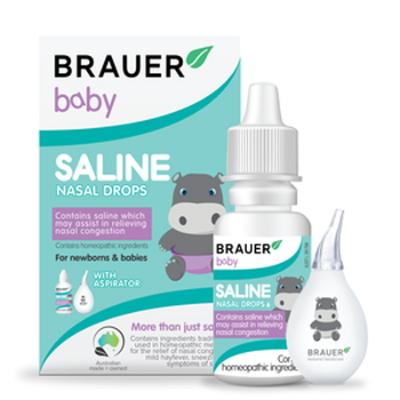 BABY SALINE NASAL DROPS 25ml WITH ASPIRATOR