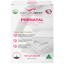 PRENATAL TRIMESTER ONE WITH GINGER 120Caps