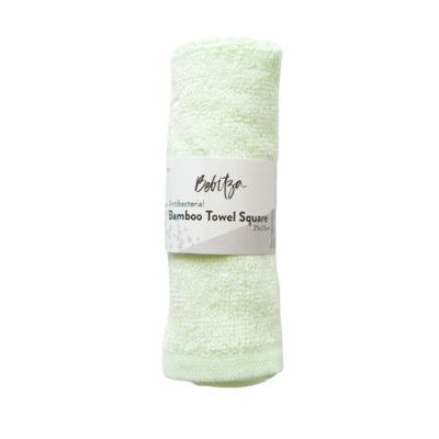 BAMBOO TOWEL SQUARE GREEN